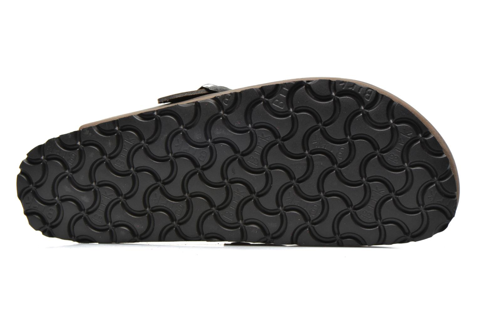 Sandals Birkenstock Boston Cuir M Grey view from above