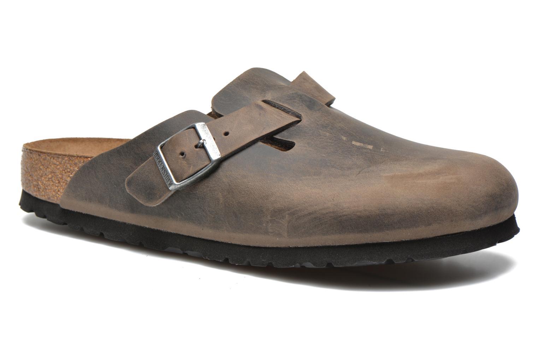 Sandales et nu-pieds Birkenstock Boston Cuir M Gris vue détail/paire