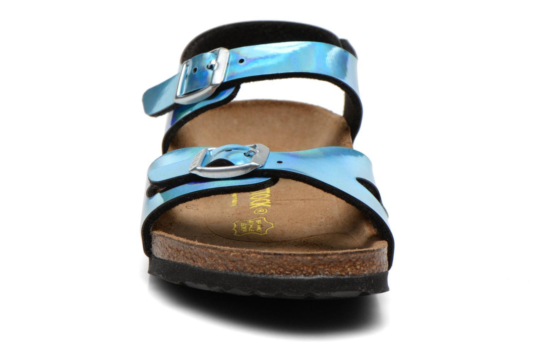 Sandales et nu-pieds Birkenstock Rio Bleu vue portées chaussures