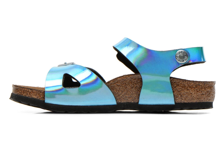 Sandales et nu-pieds Birkenstock Rio Bleu vue face