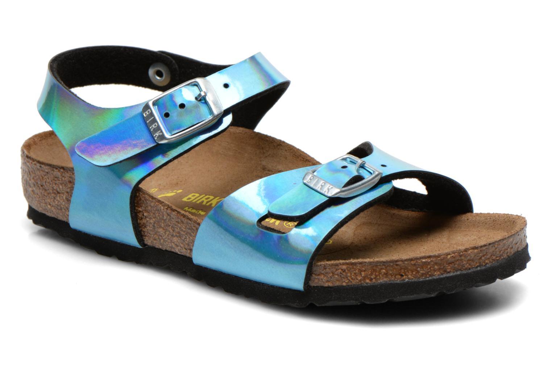 Sandales et nu-pieds Birkenstock Rio Bleu vue détail/paire