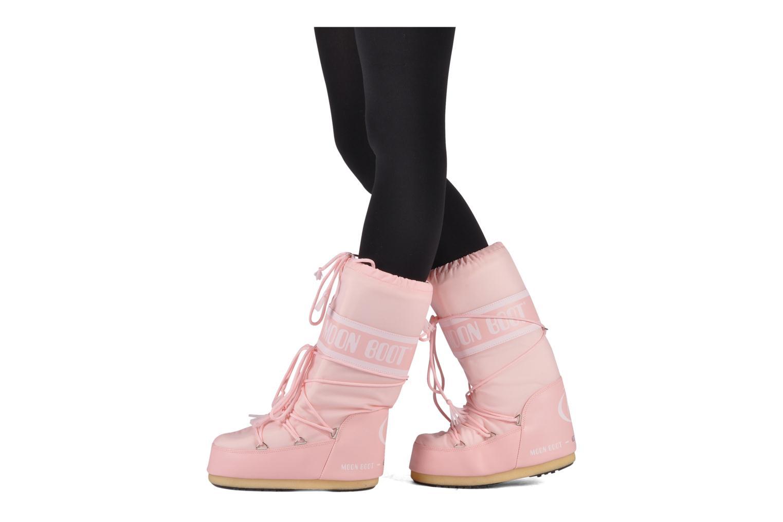 Sportschuhe Moon Boot Moon Boot Nylon schwarz ansicht von unten / tasche getragen