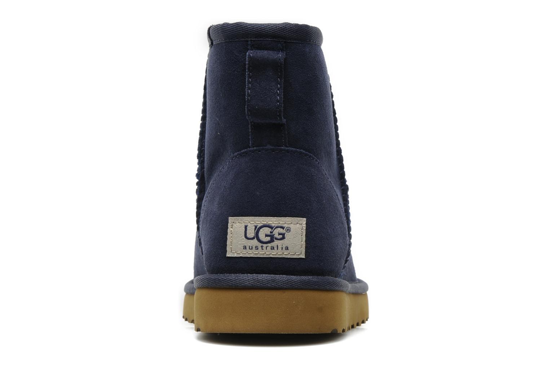Bottines et boots UGG Classic Mini Bleu vue droite