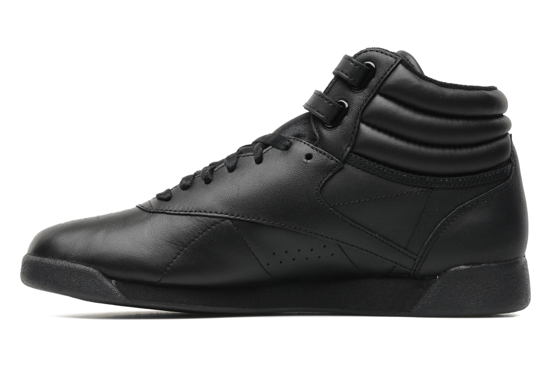 Sneaker Reebok Freestyle Hi schwarz ansicht von vorne