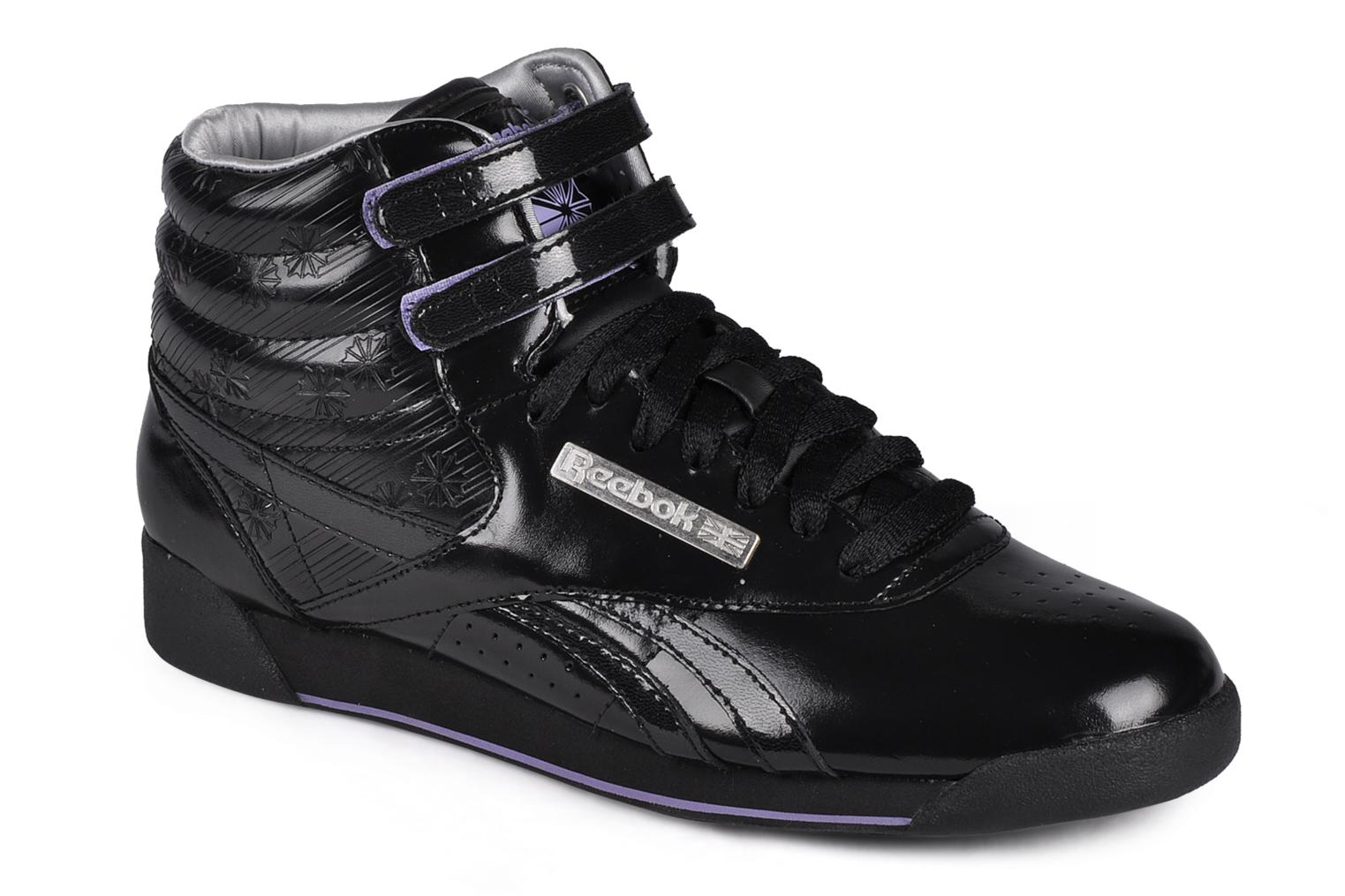 Black Reebok Freestyle Hi (Noir)