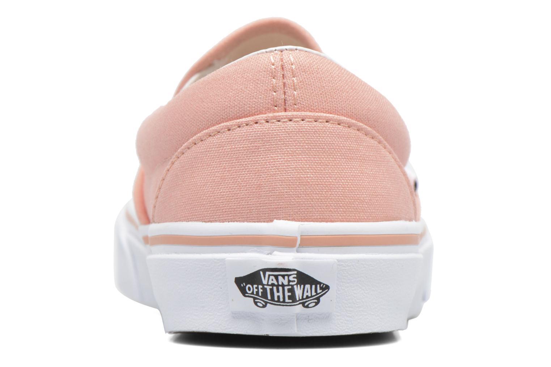Sneakers Vans Classic Slip On W Rosa Bild från höger sidan