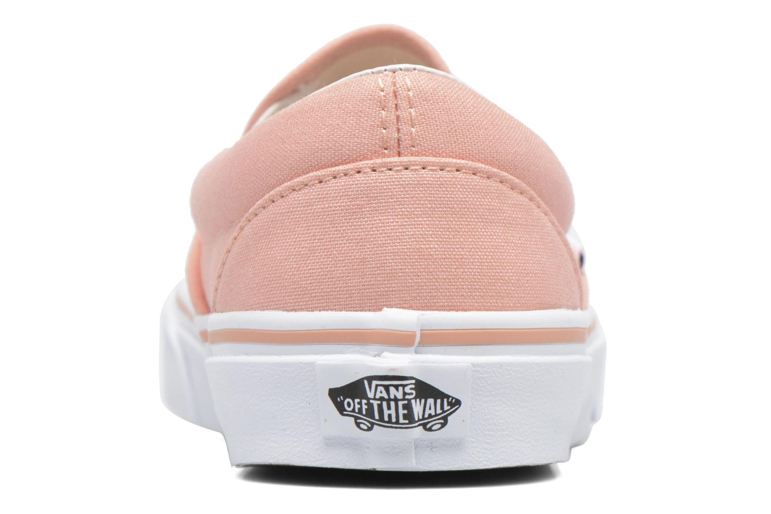 Baskets Vans Classic Slip On W Rose vue droite