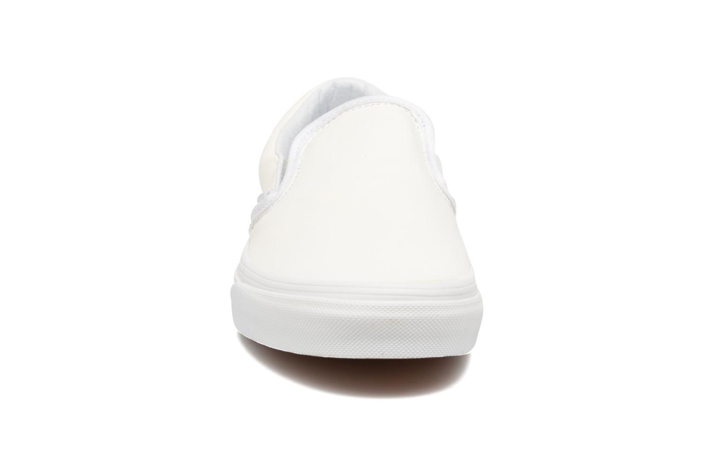 Sneaker Vans Classic Slip On W weiß schuhe getragen