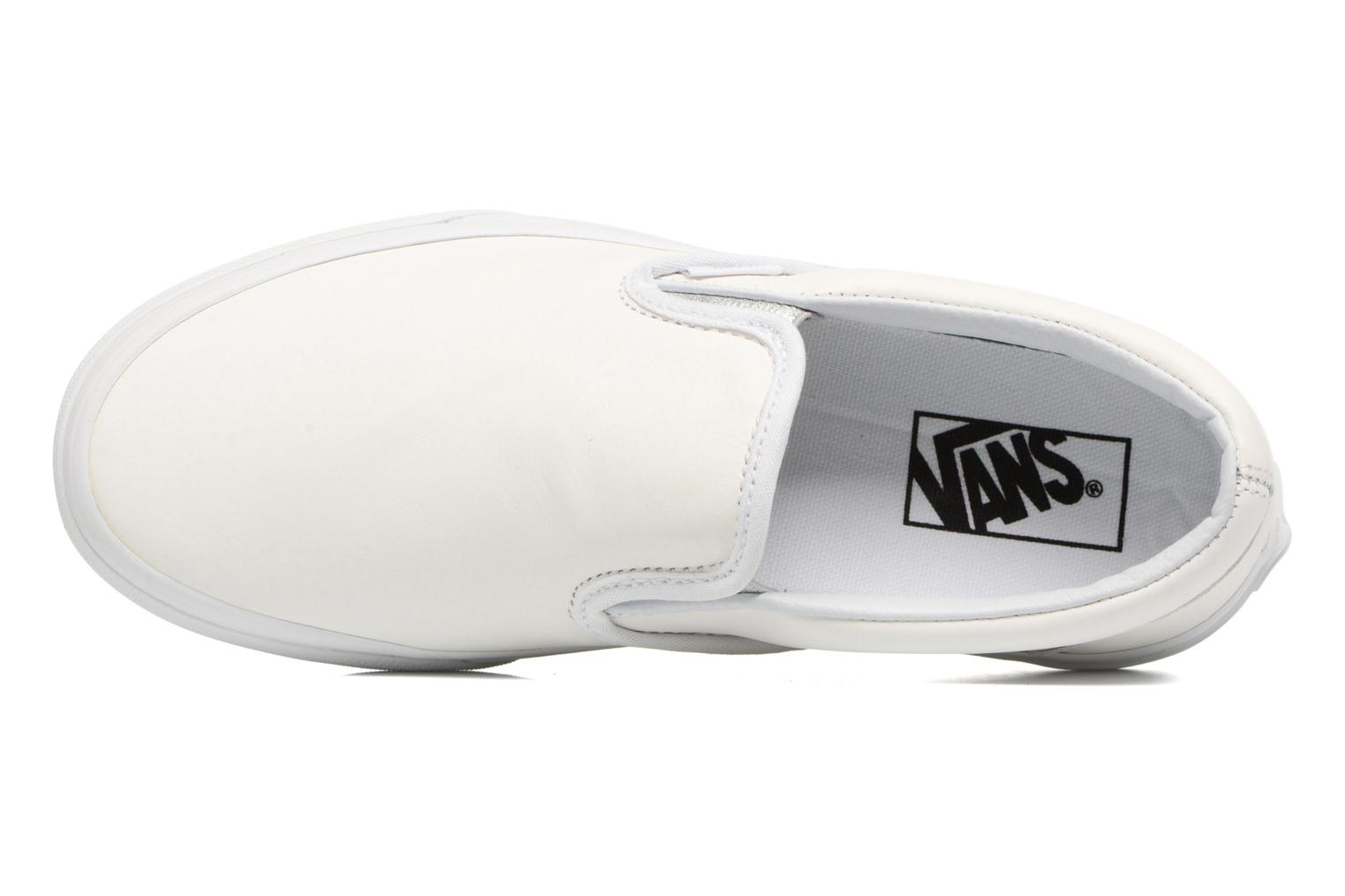 Baskets Vans Classic Slip On W Blanc vue gauche