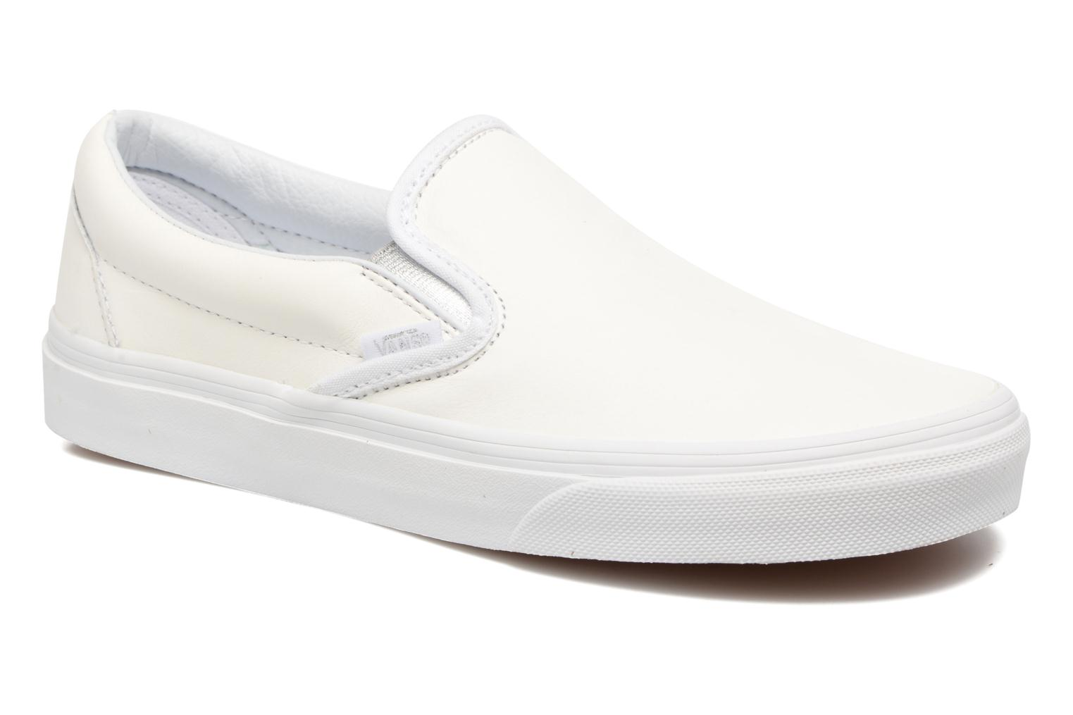 Baskets Vans Classic Slip On W Blanc vue détail/paire