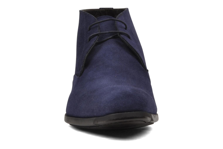Schnürschuhe Santoni William 7416 blau schuhe getragen
