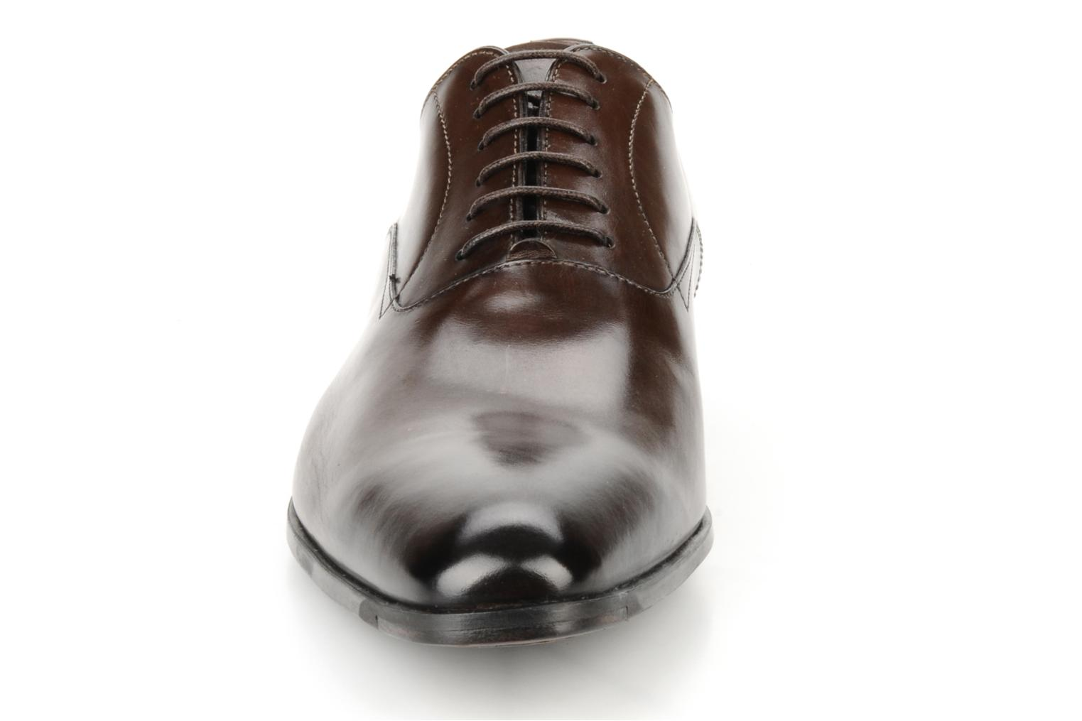 Lace-up shoes Santoni William 7413 Brown model view