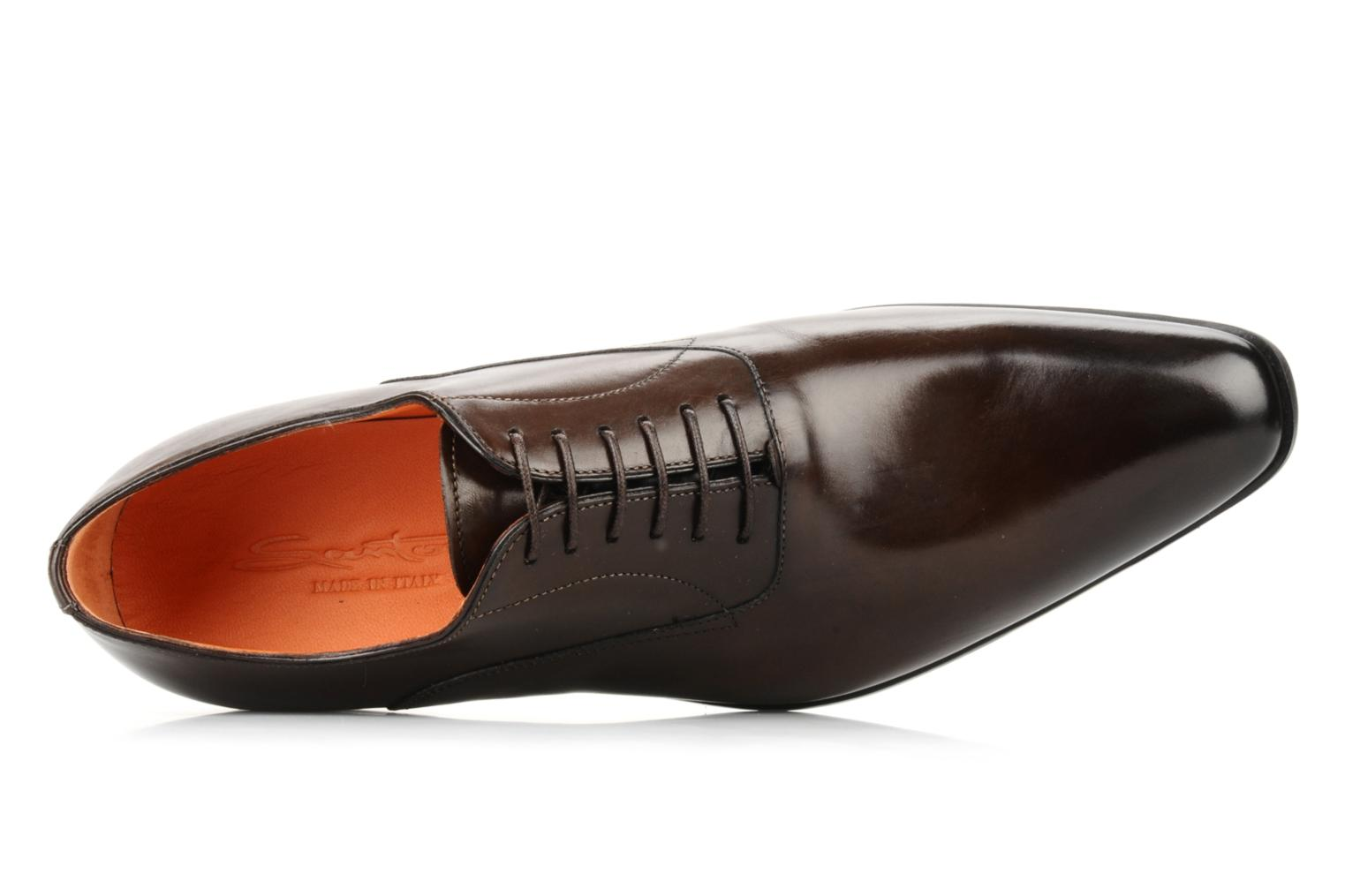 Lace-up shoes Santoni William 7413 Brown view from the left