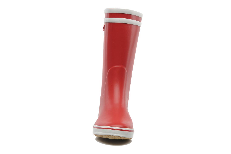 Bottines et boots Aigle Malouine Rouge vue portées chaussures