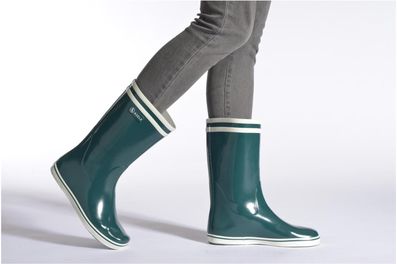 Stiefeletten & Boots Aigle Malouine weinrot ansicht von unten / tasche getragen