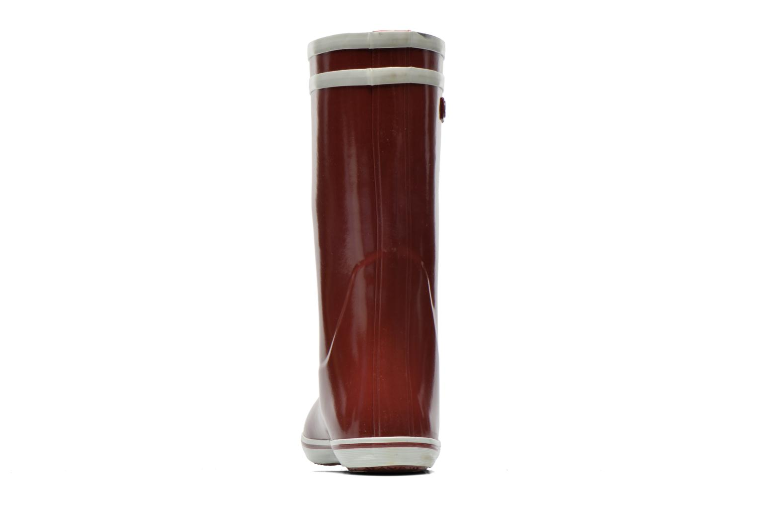 Ankle boots Aigle Malouine Burgundy view from the right