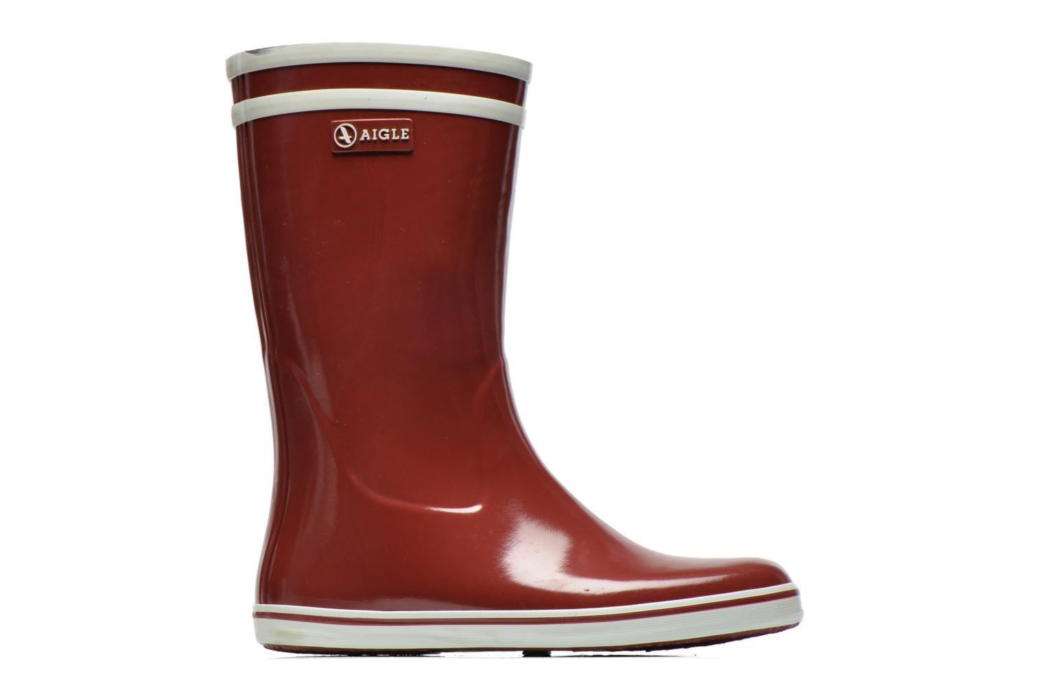 Ankle boots Aigle Malouine Burgundy back view