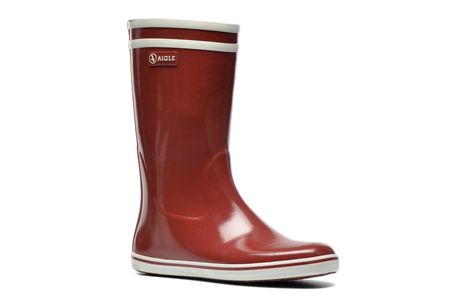 Ankle boots Aigle Malouine Burgundy detailed view/ Pair view