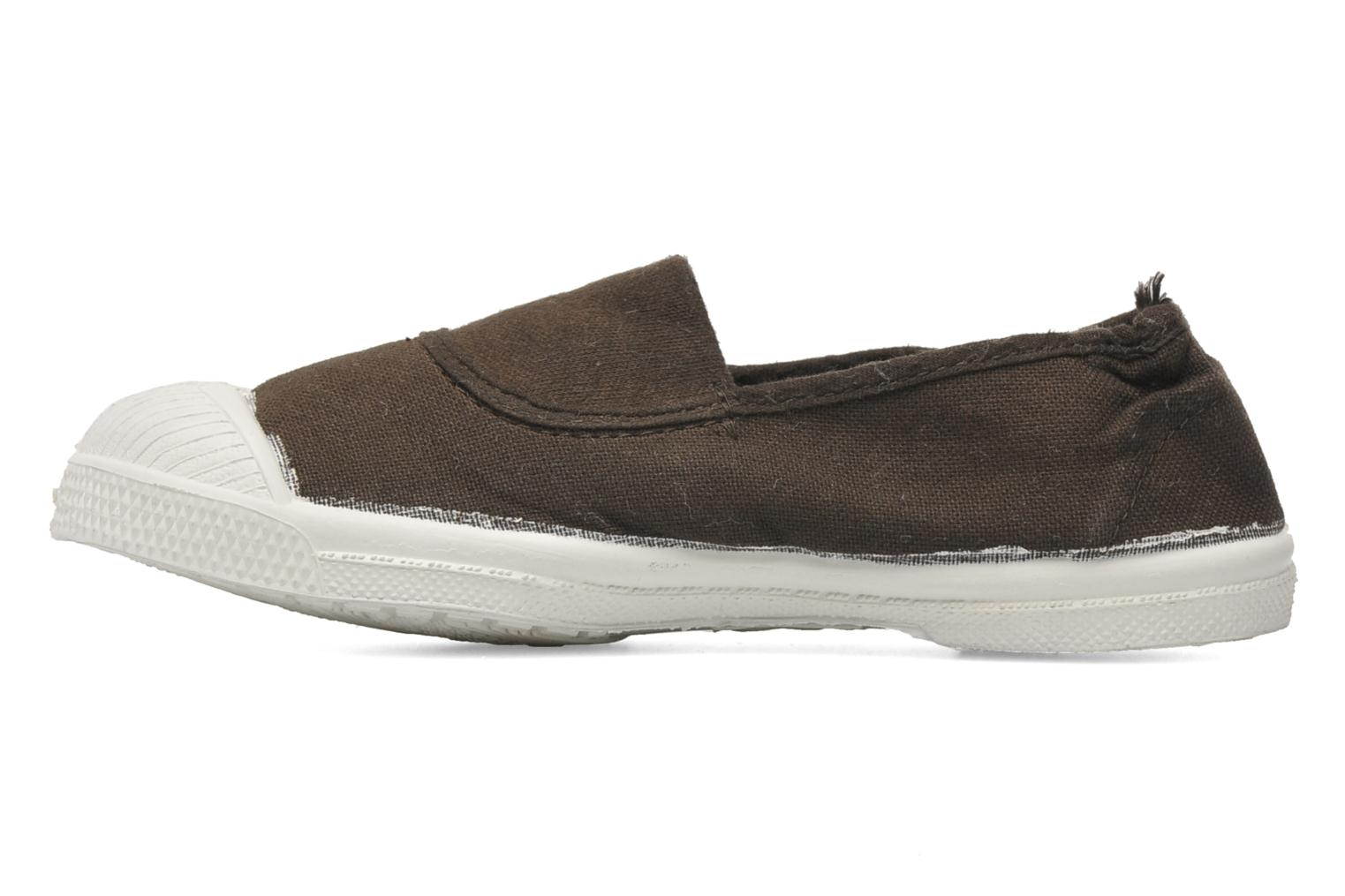 Ballerines Bensimon Tennis Elastique E Marron vue face