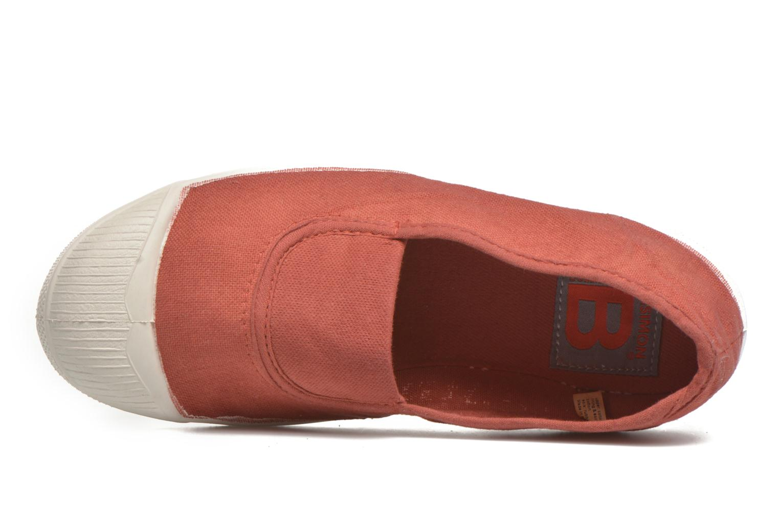Ballerinas Bensimon Tennis Elastique E orange ansicht von links