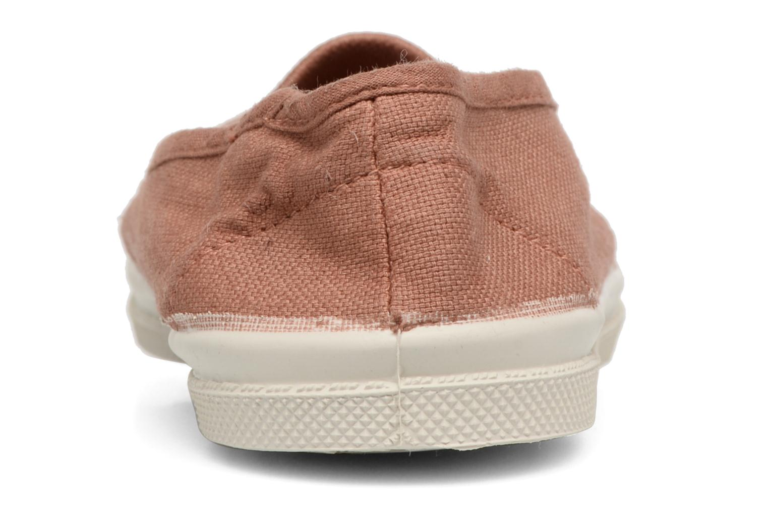 Ballet pumps Bensimon Tennis Elastique E Beige view from the right