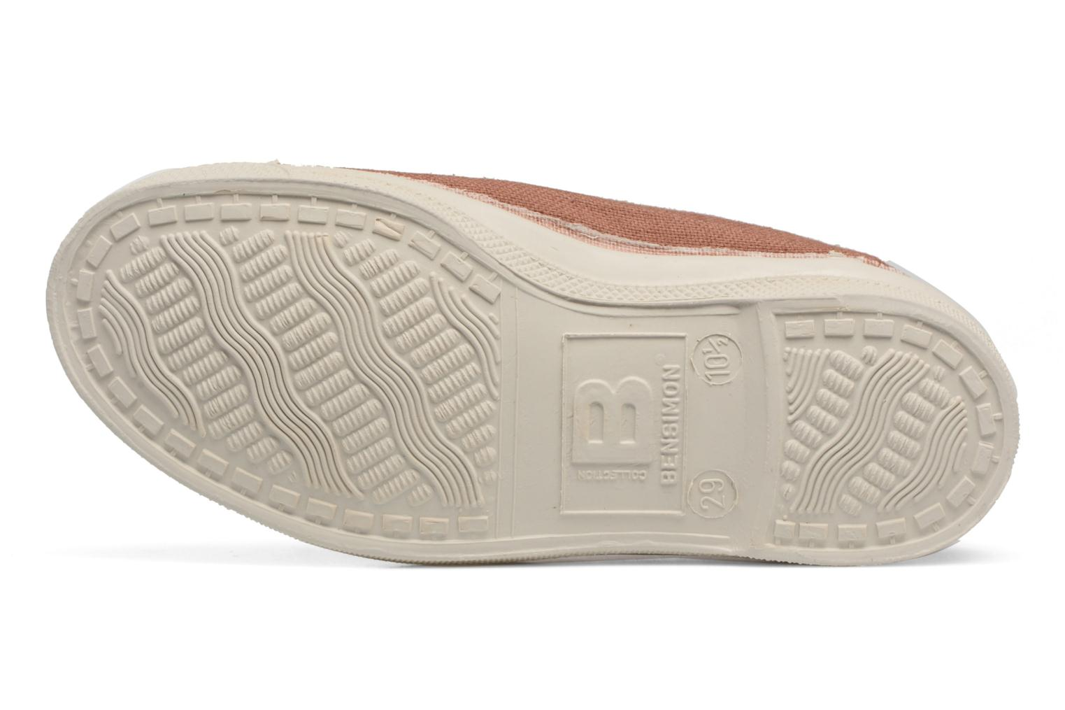 Ballet pumps Bensimon Tennis Elastique E Beige view from above