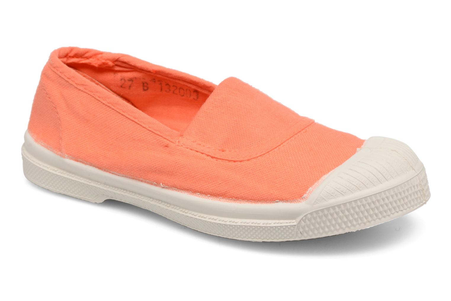 Ballerines Bensimon Tennis Elastique E Orange vue détail/paire