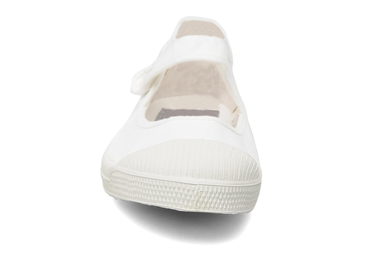 Ballerines Bensimon Marie Jane Blanc vue portées chaussures