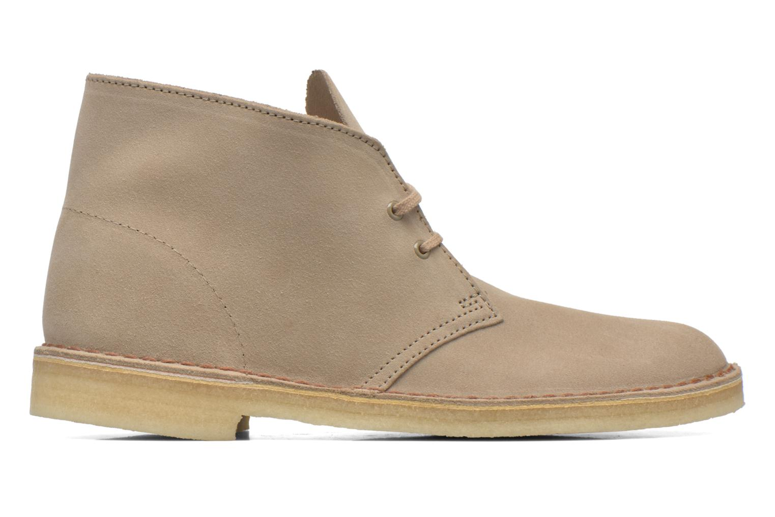 Lace-up shoes Clarks Desert Boot Grey back view