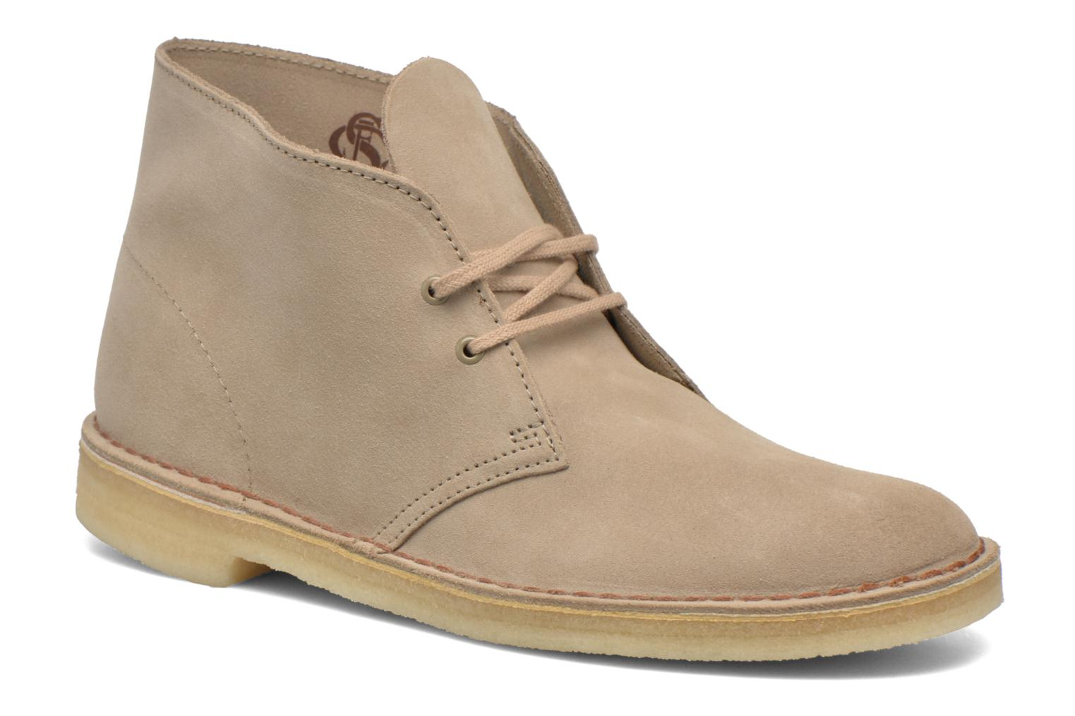 Lace-up shoes Clarks Desert Boot Grey detailed view/ Pair view