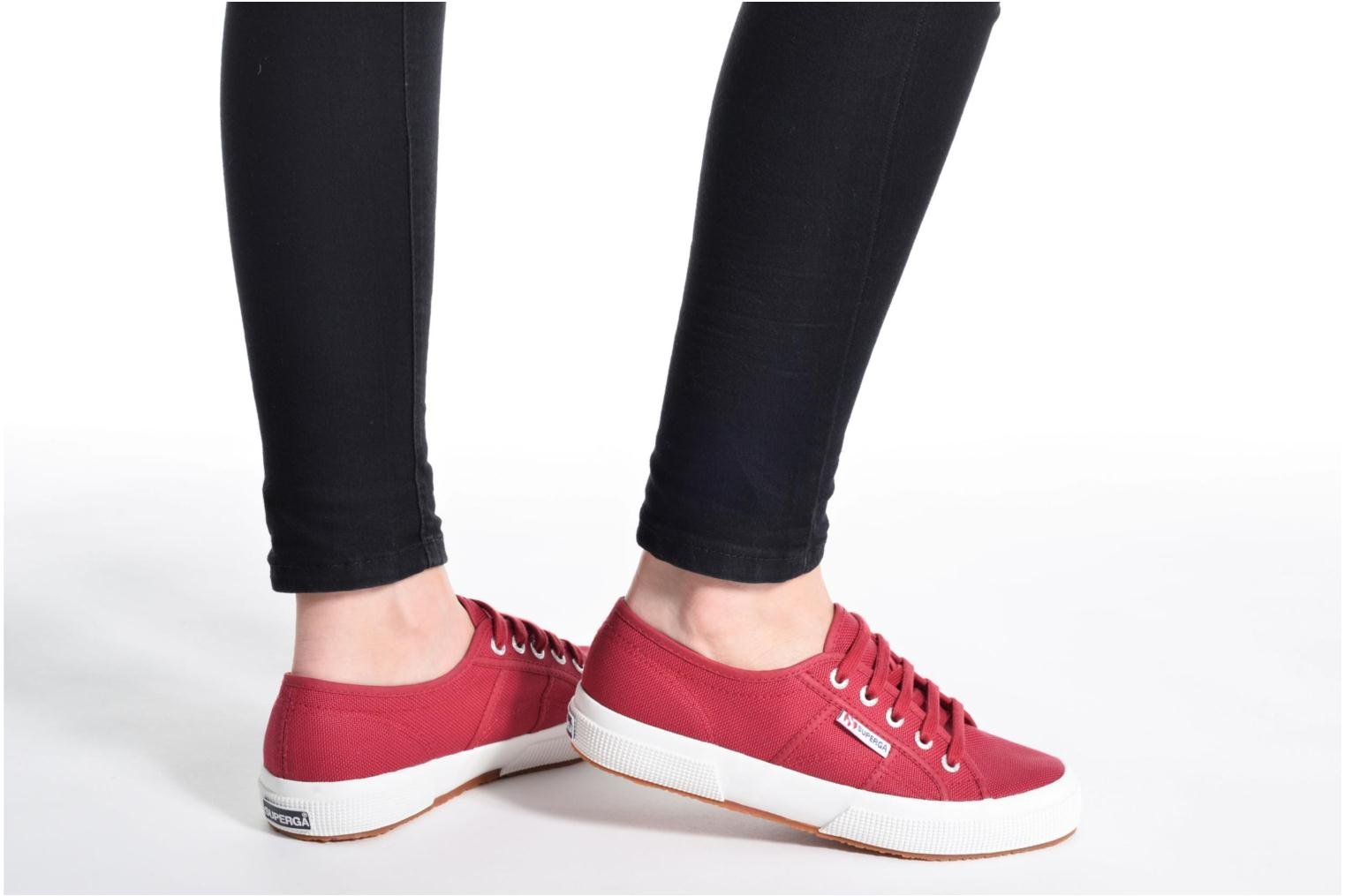 Trainers Superga 2750 Cotu W Black view from underneath / model view