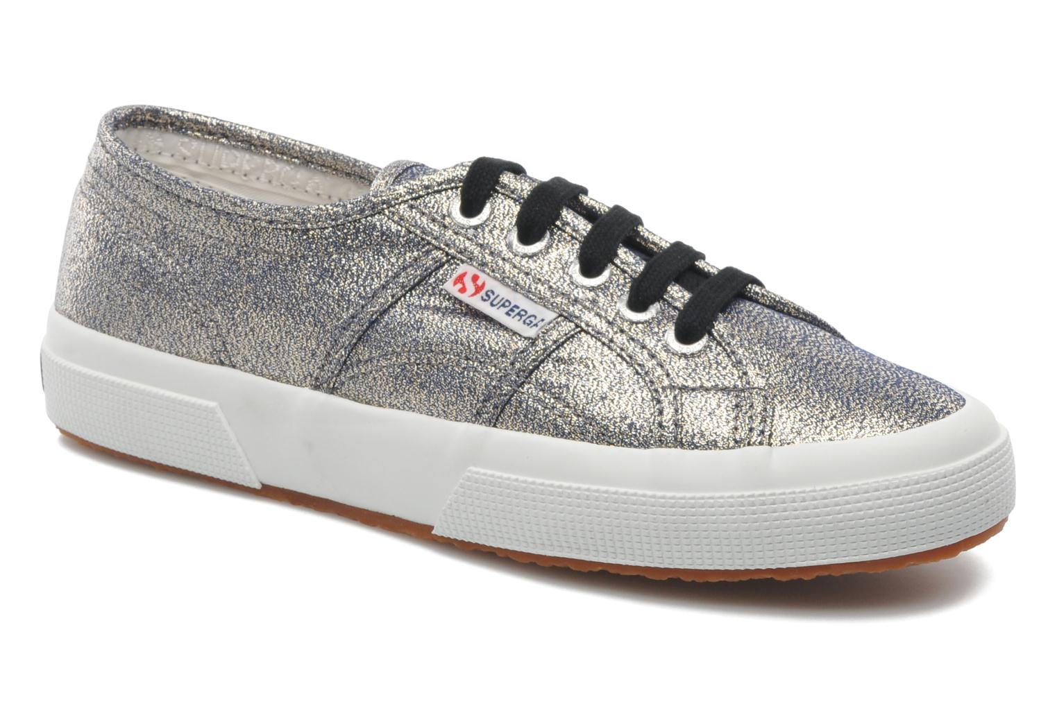 Trainers Superga 2750 Lame W Grey detailed view/ Pair view