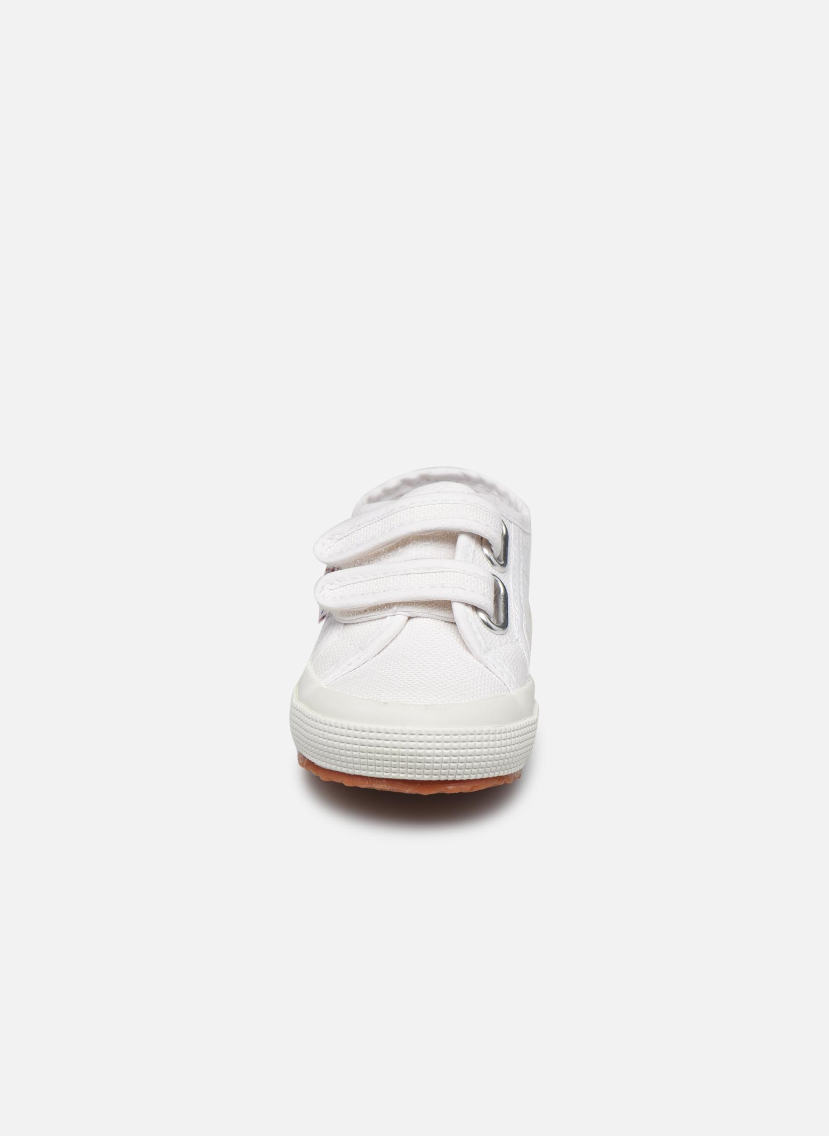 Sneaker Superga 2750 J Velcro E weiß schuhe getragen