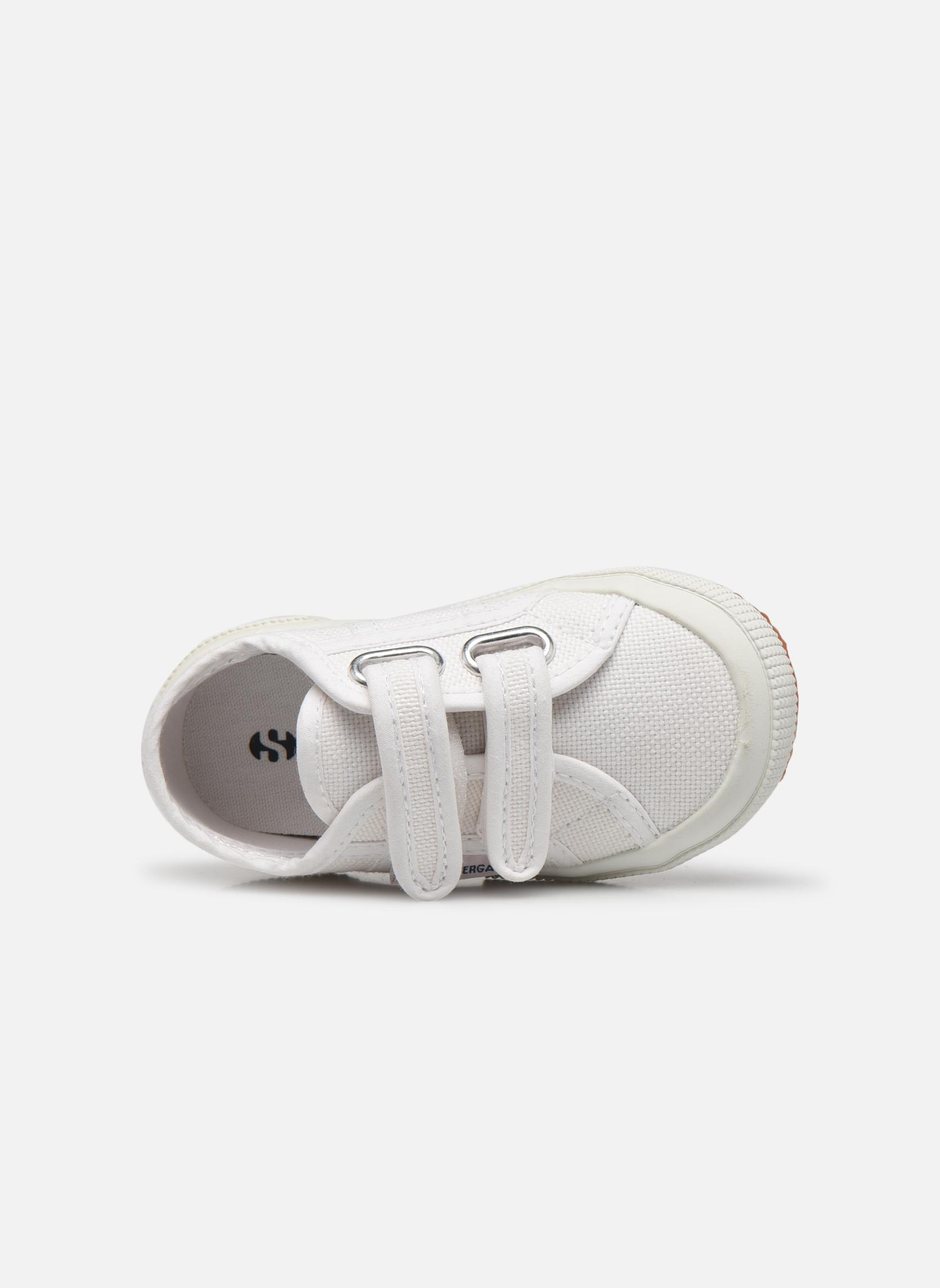 Sneaker Superga 2750 J Velcro E weiß ansicht von links