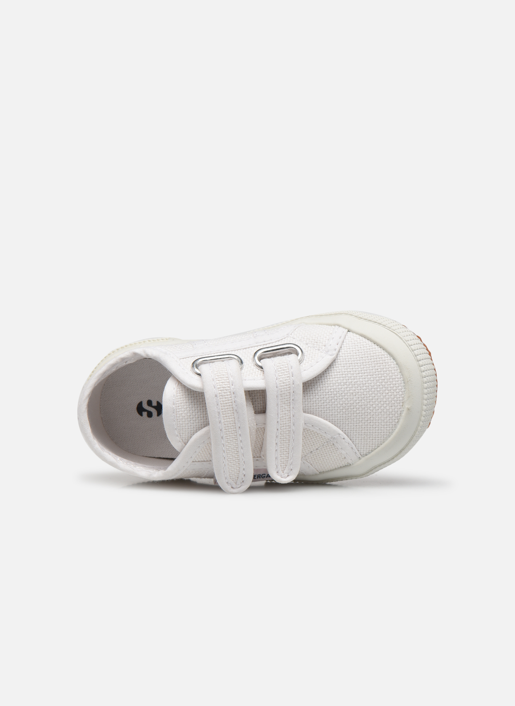 Trainers Superga 2750 J Velcro E White view from the left