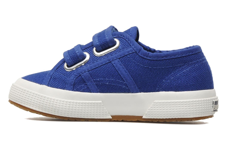 Sneakers Superga 2750 J Velcro E Blauw voorkant