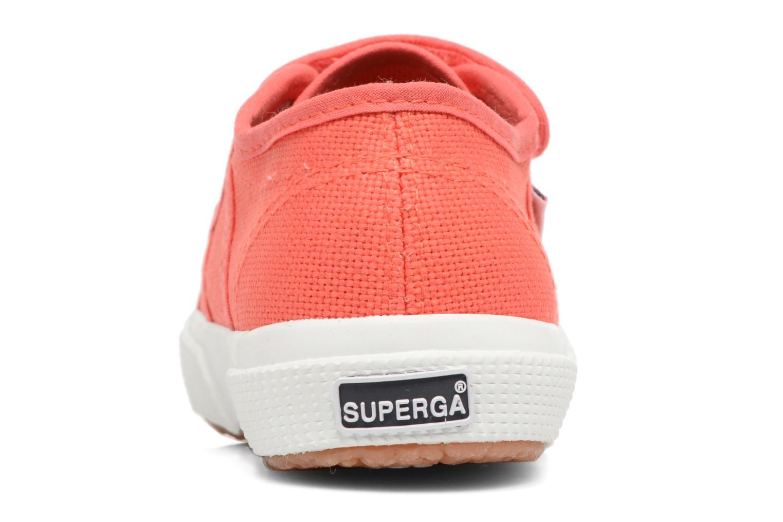 Baskets Superga 2750 J Velcro E Rouge vue droite