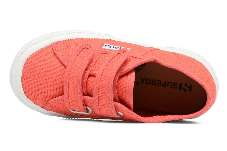 Red Superga 2750 J Velcro E (Rouge)