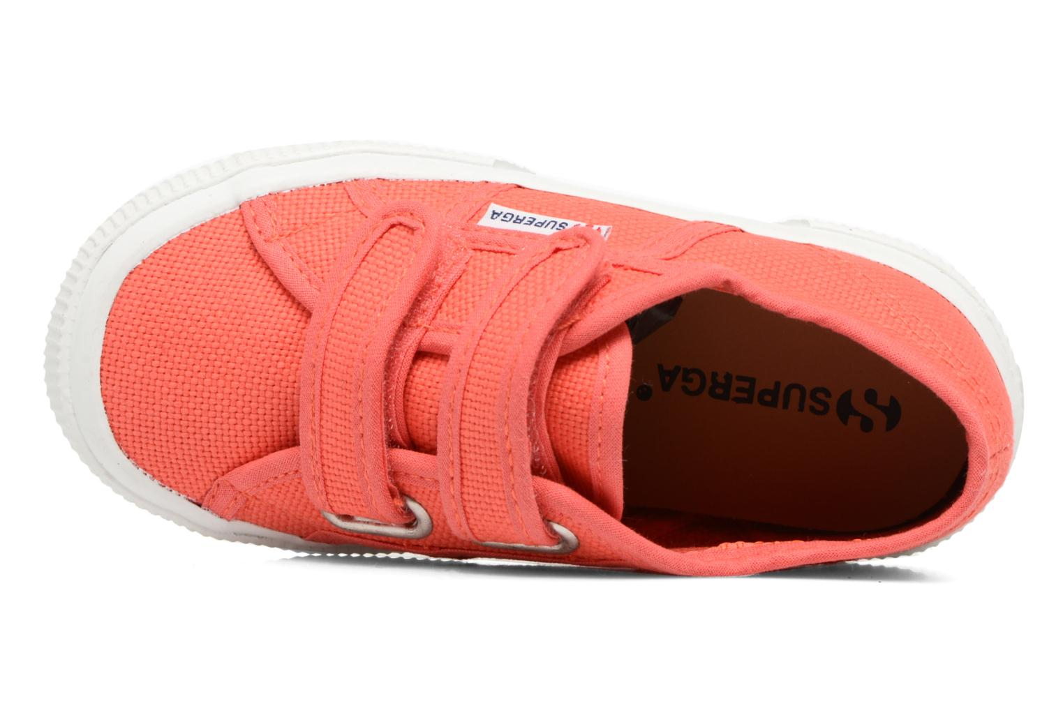 Trainers Superga 2750 J Velcro E Red view from the left