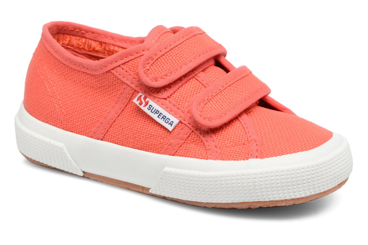 Trainers Superga 2750 J Velcro E Red detailed view/ Pair view