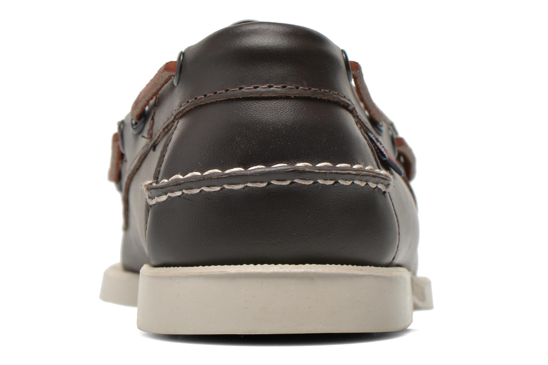 Chaussures à lacets Sebago Docksides M Bordeaux vue droite