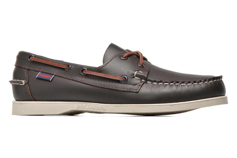 Chaussures à lacets Sebago Docksides M Bordeaux vue derrière
