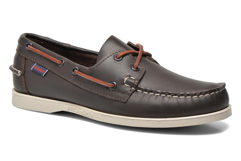 Chaussures à lacets Sebago Docksides M Bordeaux vue détail/paire