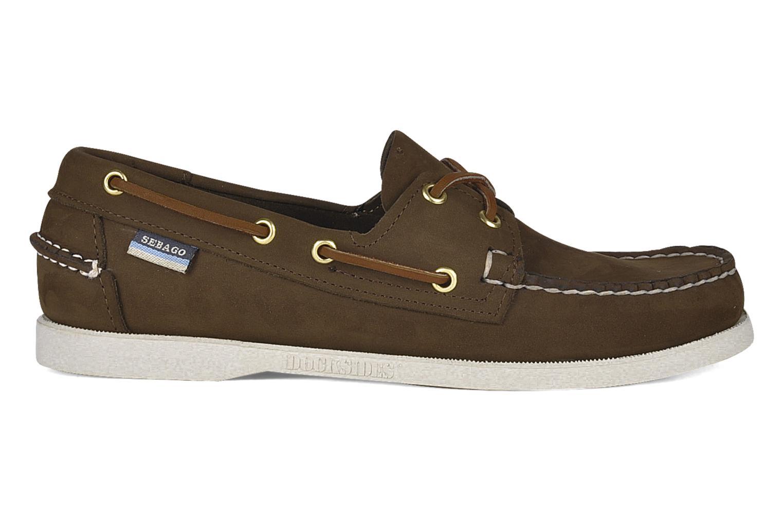 Zapatos con cordones Sebago Docksides M Marrón vistra trasera
