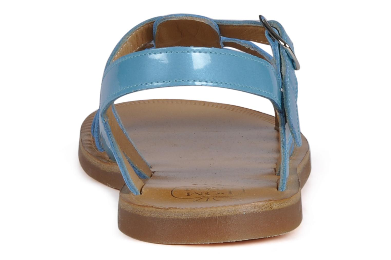 Sandalen Pom d Api Plagette Straps blau ansicht von rechts