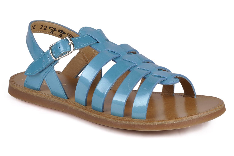 Sandalen Pom d Api Plagette Straps blau detaillierte ansicht/modell