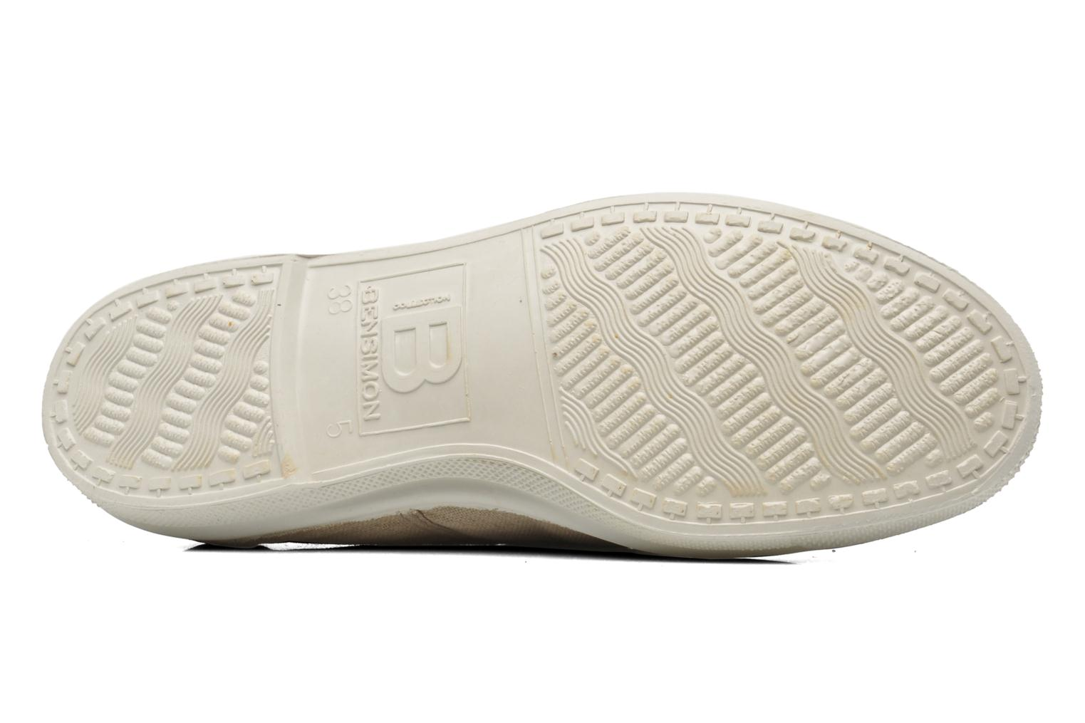 Trainers Bensimon Tennis Lacets Beige view from above