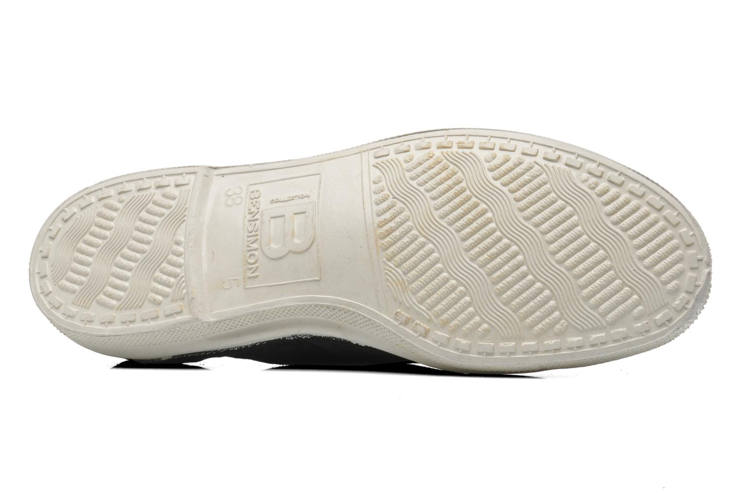 Trainers Bensimon Tennis Lacets Black view from above