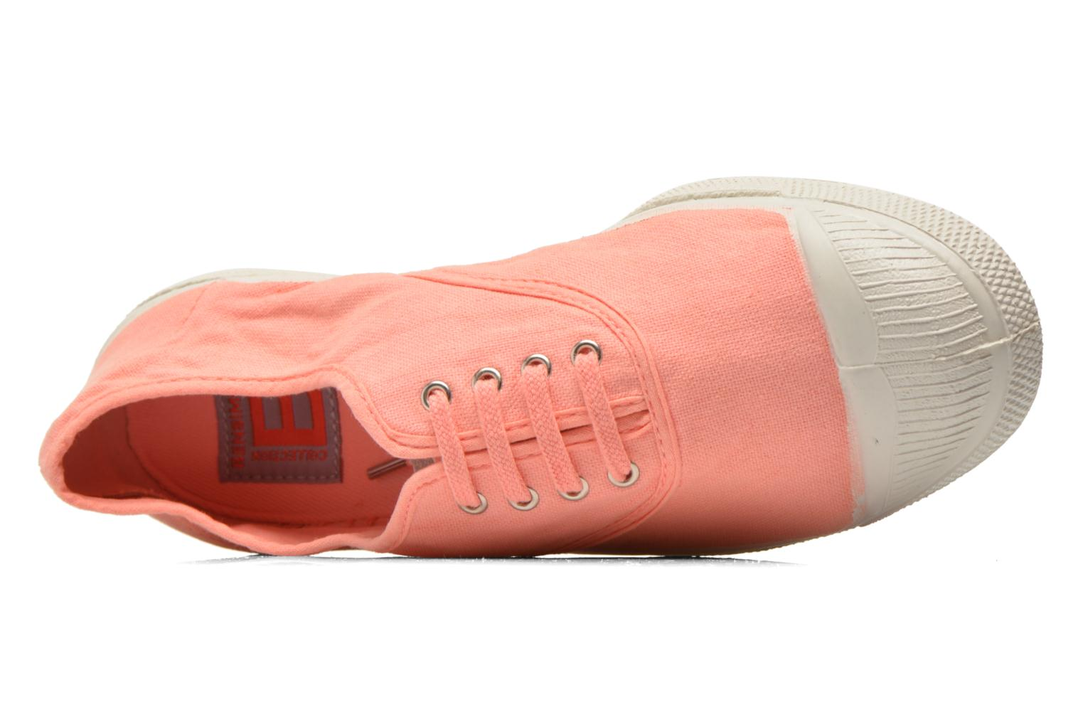 Trainers Bensimon Tennis Lacets Orange view from the left