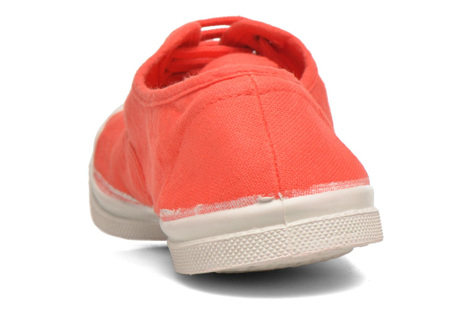 Sneakers Bensimon Tennis Lacets Rood achterkant